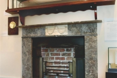 Irish Georgian marble fireplace with half register grate