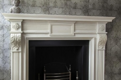 The Downhill Portland stone fireplace by Ryan & Smith