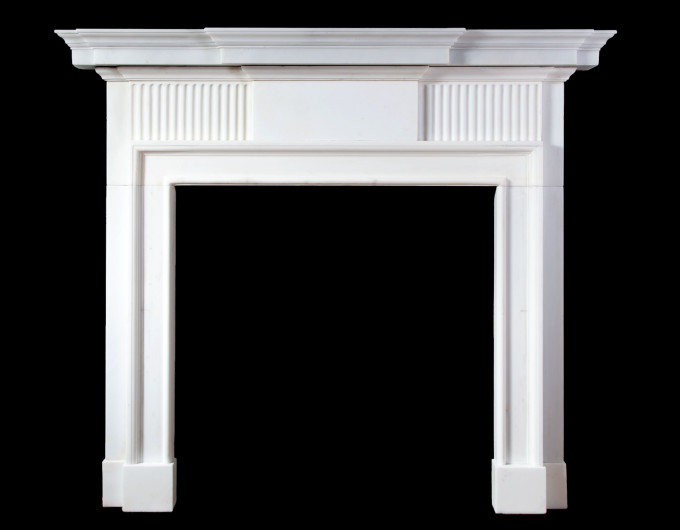 White Statuary Marble Fireplace