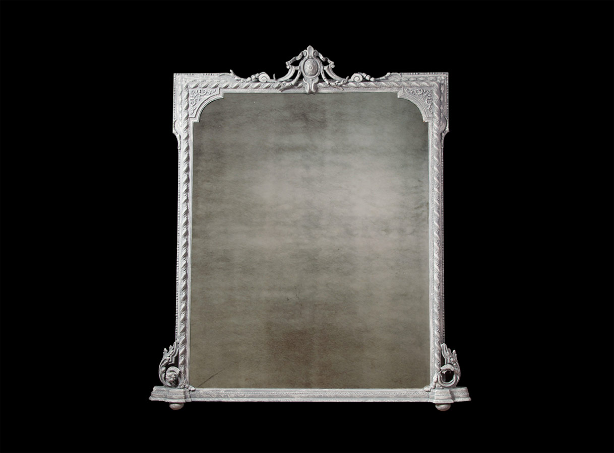 Antique Over Mantle Mirror – AF014 SOLD