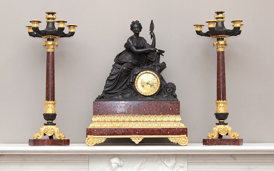 Louis-Philippe Clock and Candelabra Set  – AC001