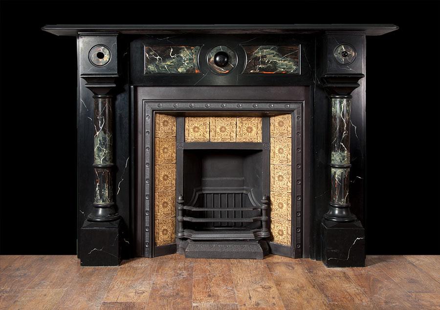 Edwardian slate fire surround – SL022