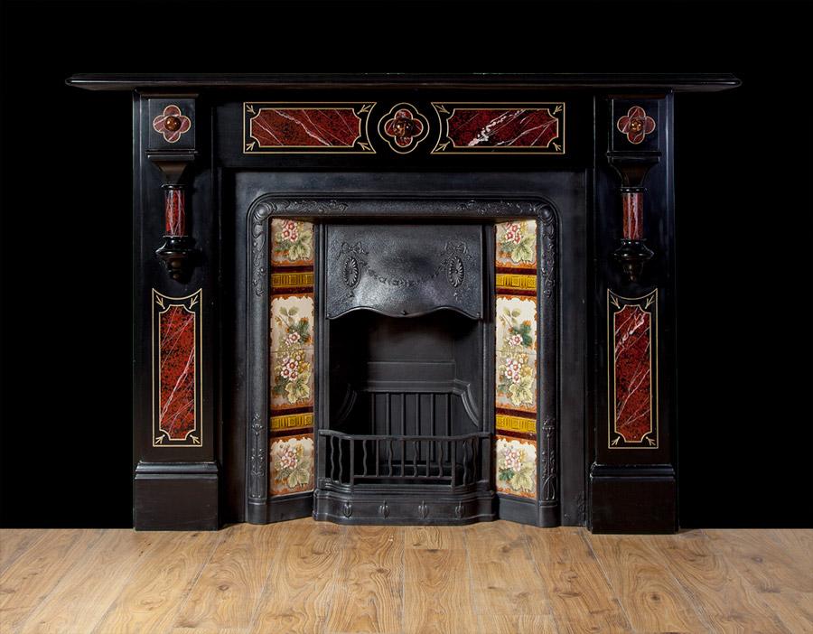 Victorian slate fireplace – SL023