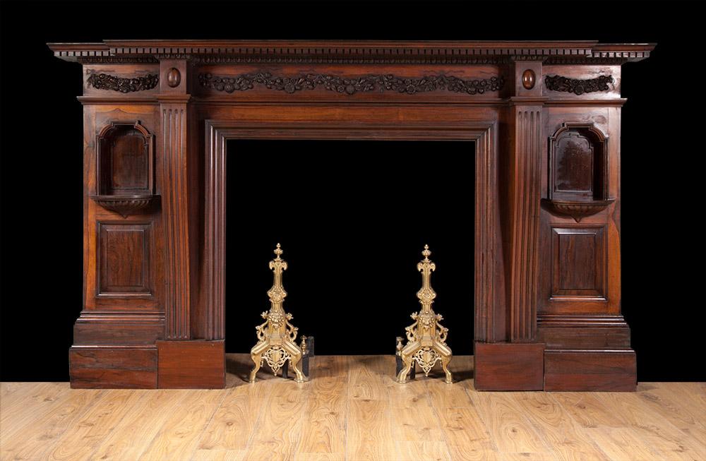 Rosewood Mantelpiece – W059