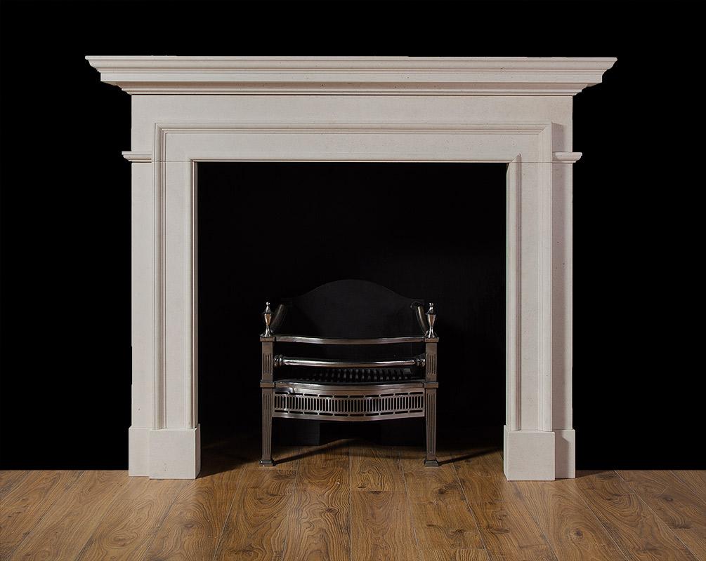 Claremont – Limestone Fireplace