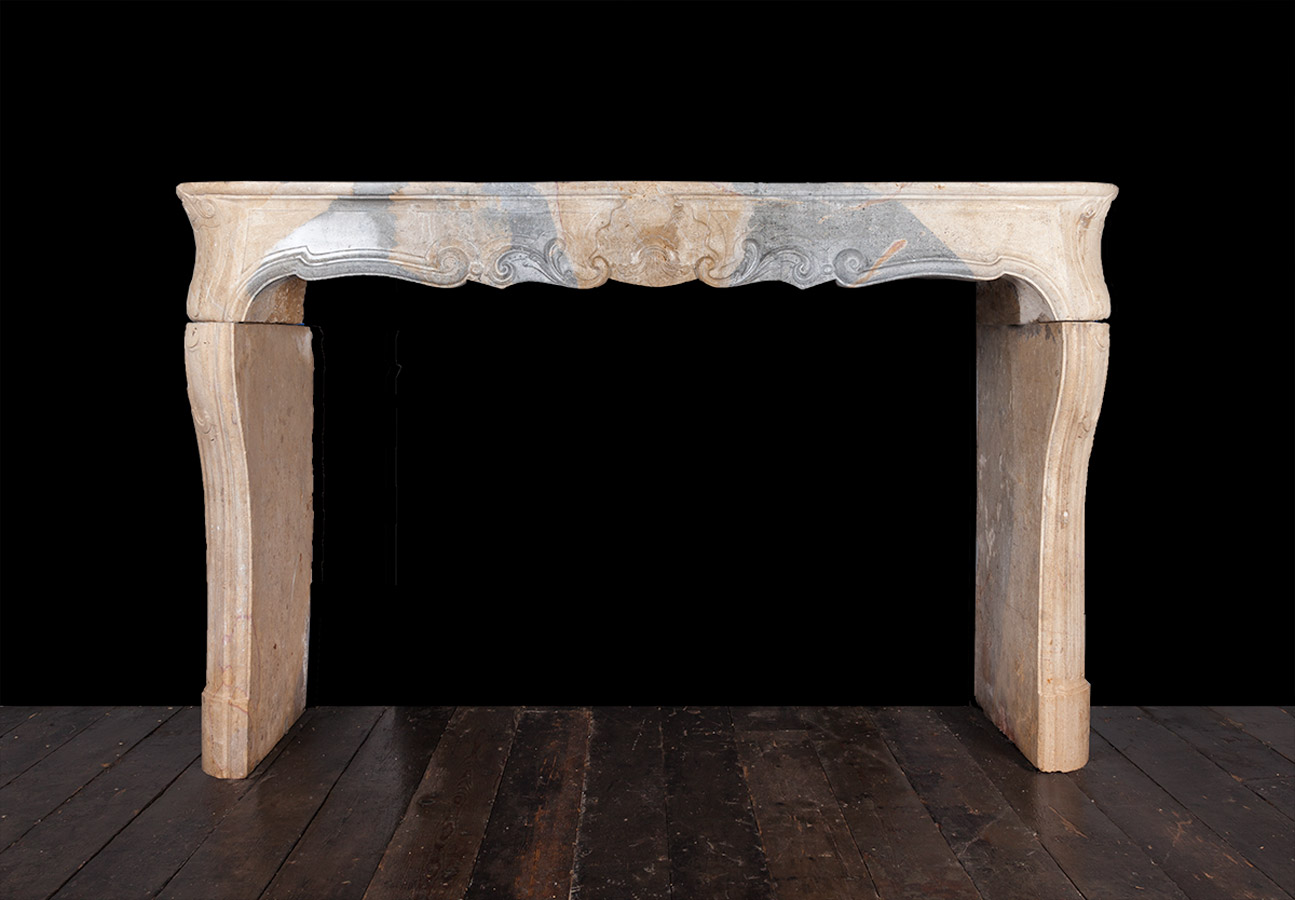 French Limestone Fireplace – 19240