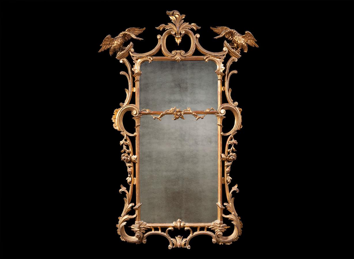 Antique Gilt Mirror – AF038