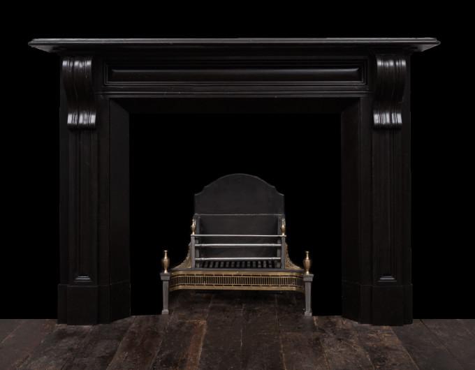 Irish corbel black marble