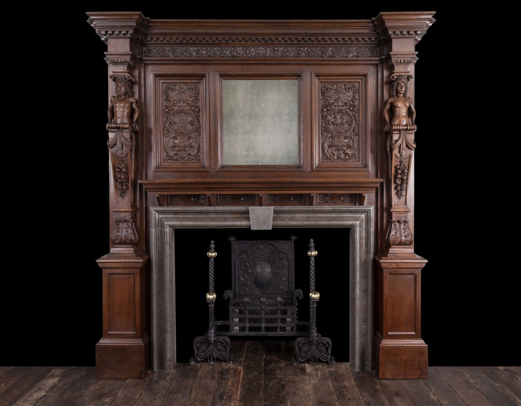 Wooden Mantel W105 19th Century Antique Fireplaces