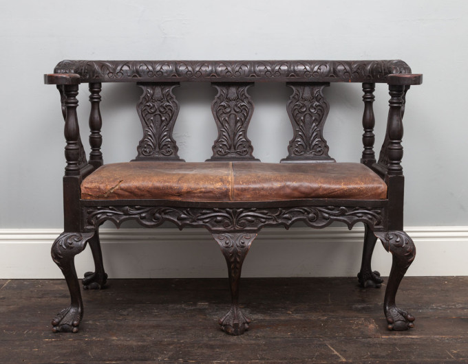 Antique carved seat