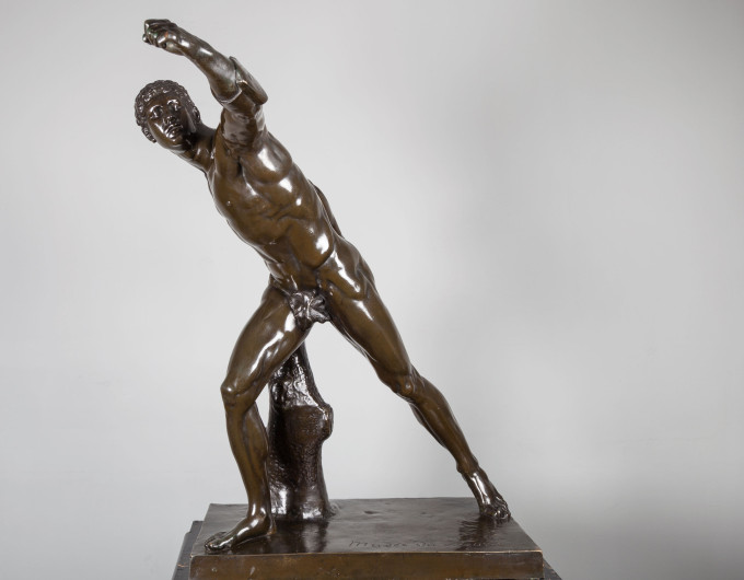 Bronze Sculpture Borghese Gladiator
