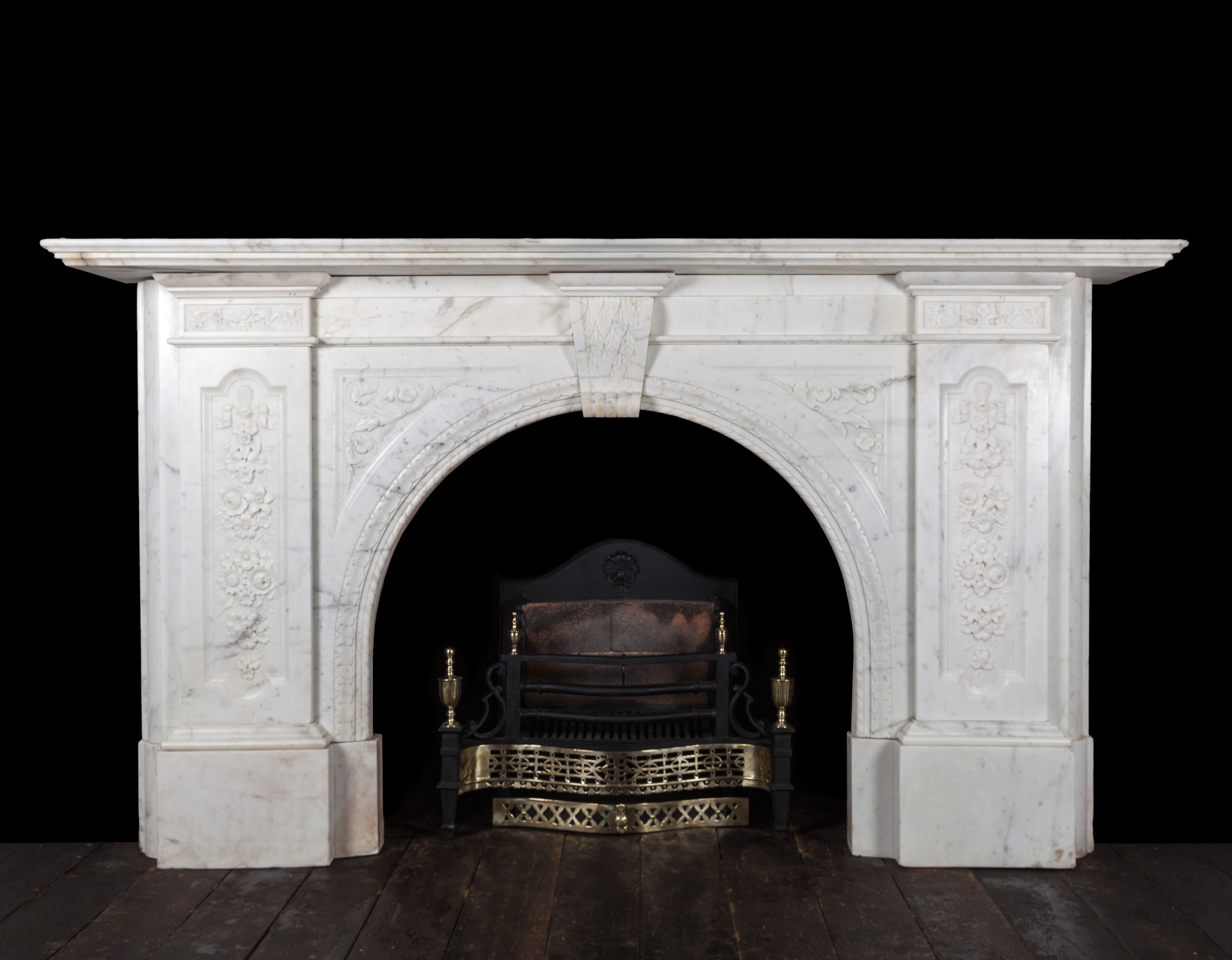 Antique Fireplace -19276