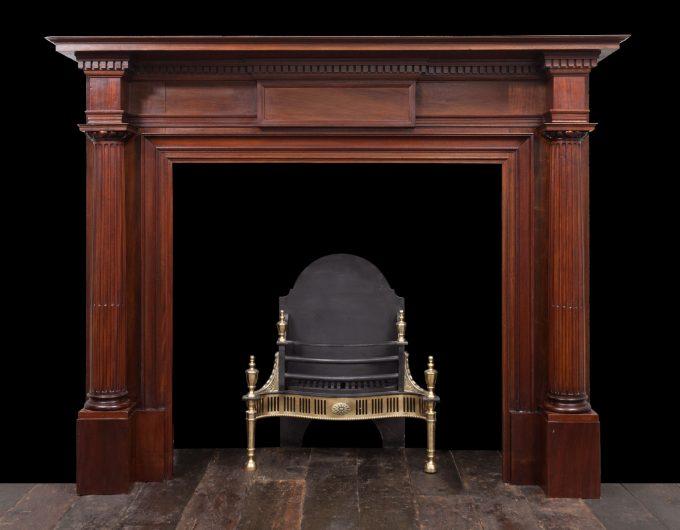 Antique Wooden Mantel