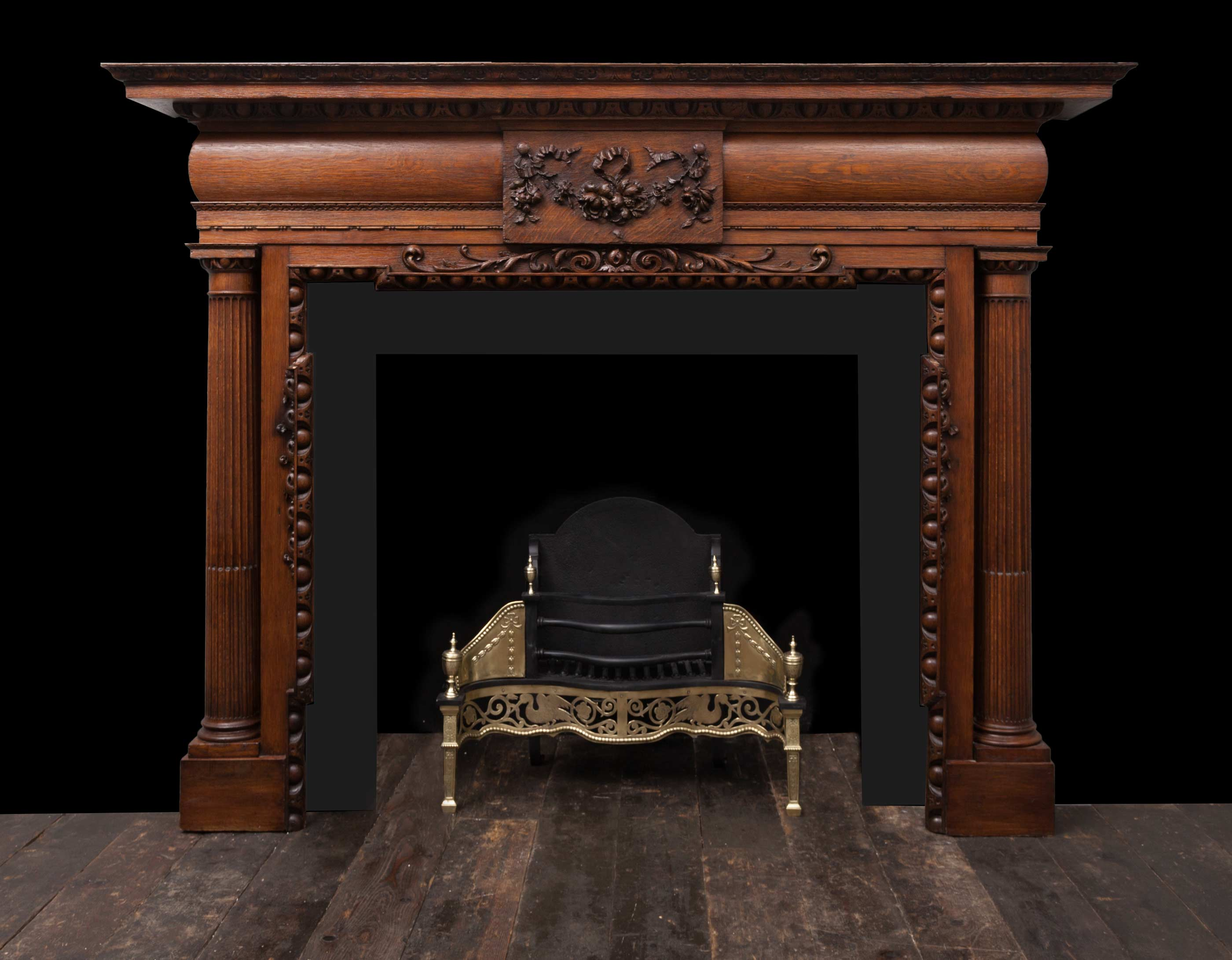Wooden Fireplace – W118
