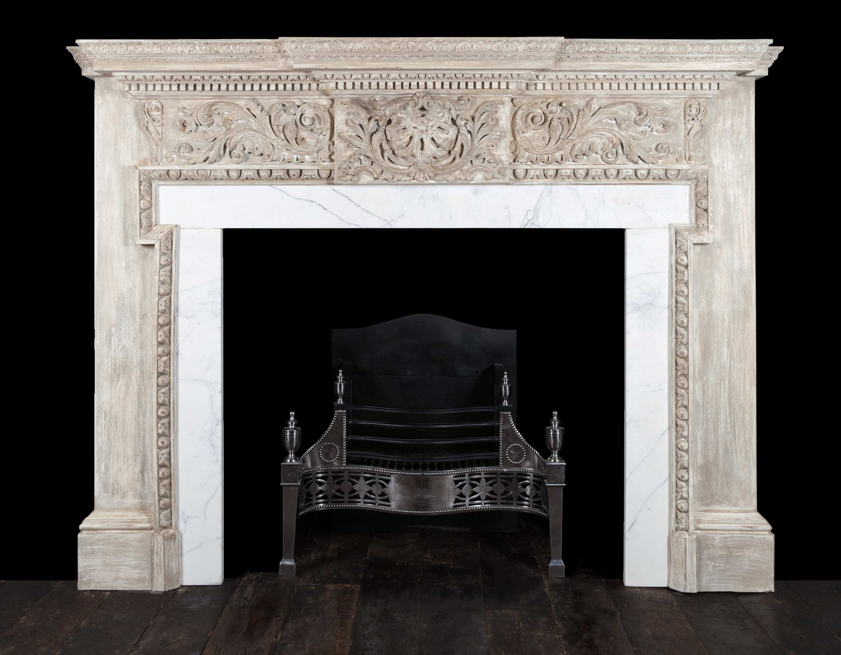 Painted Fireplace – W120