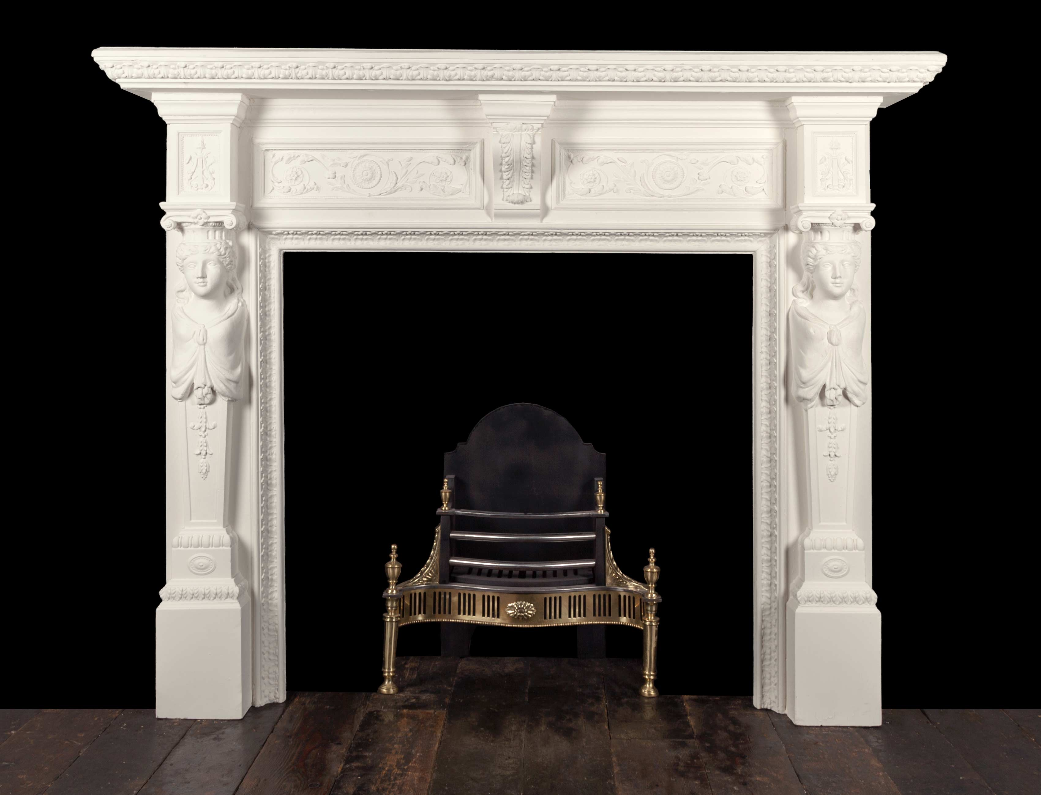 Wooded Fireplace – W128