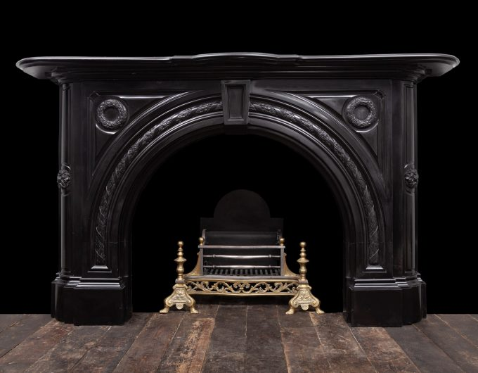 Black Victorian marble fireplace