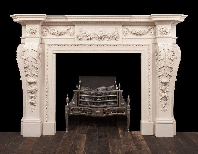 William Chambers Stone fireplace