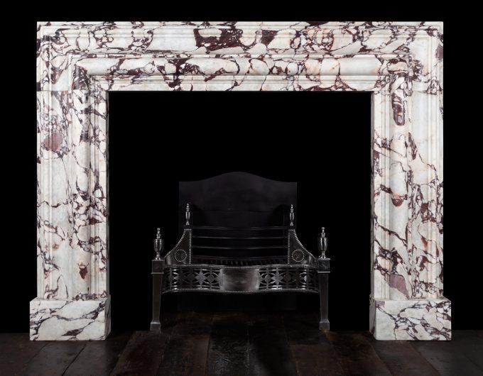 Breccia viola bolection fireplace