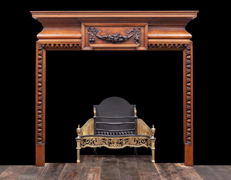 Oak Fireplace – W131