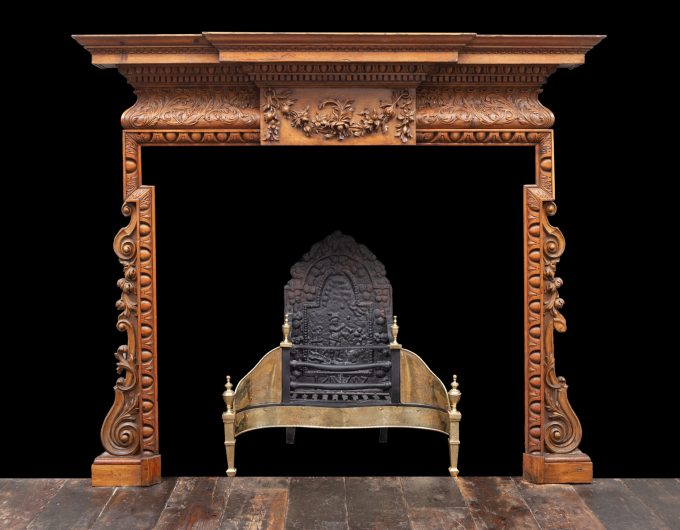 Antique wooden fire surround