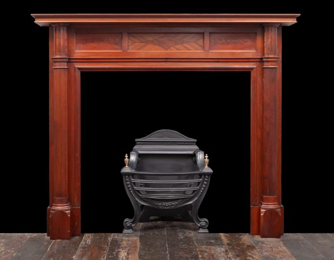 Antique wood fireplace