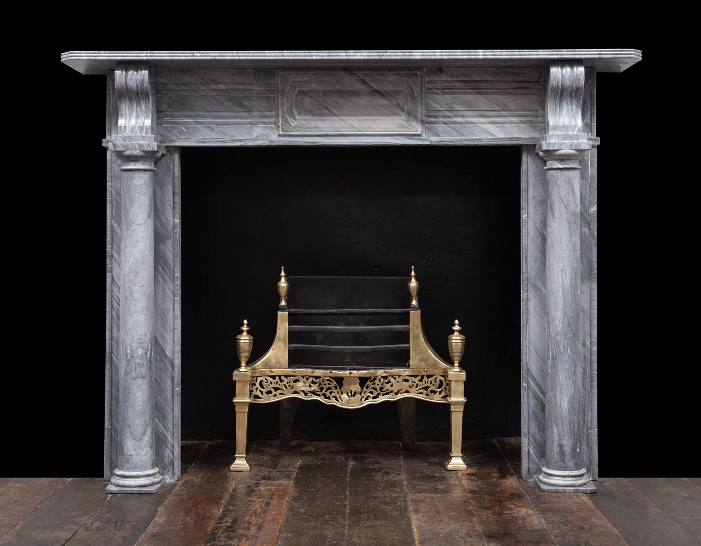 Grey Marble Fireplace – 19365