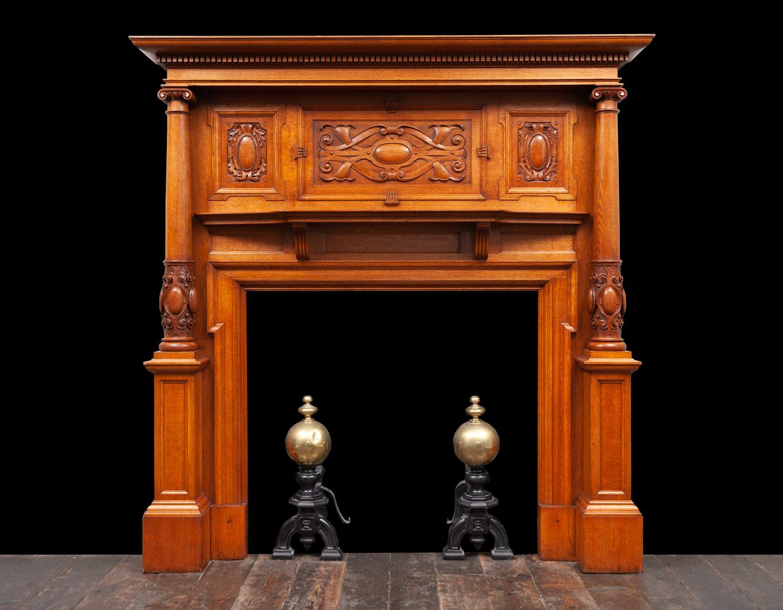 Oak Fireplace – W134