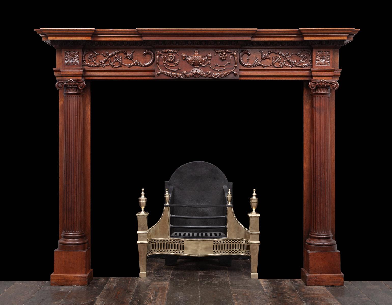 Wooded Mantel – W137