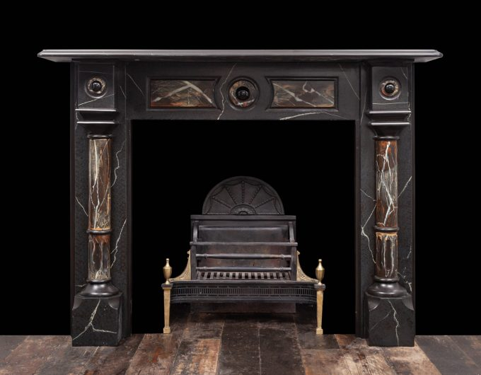 Antique slate fireplace