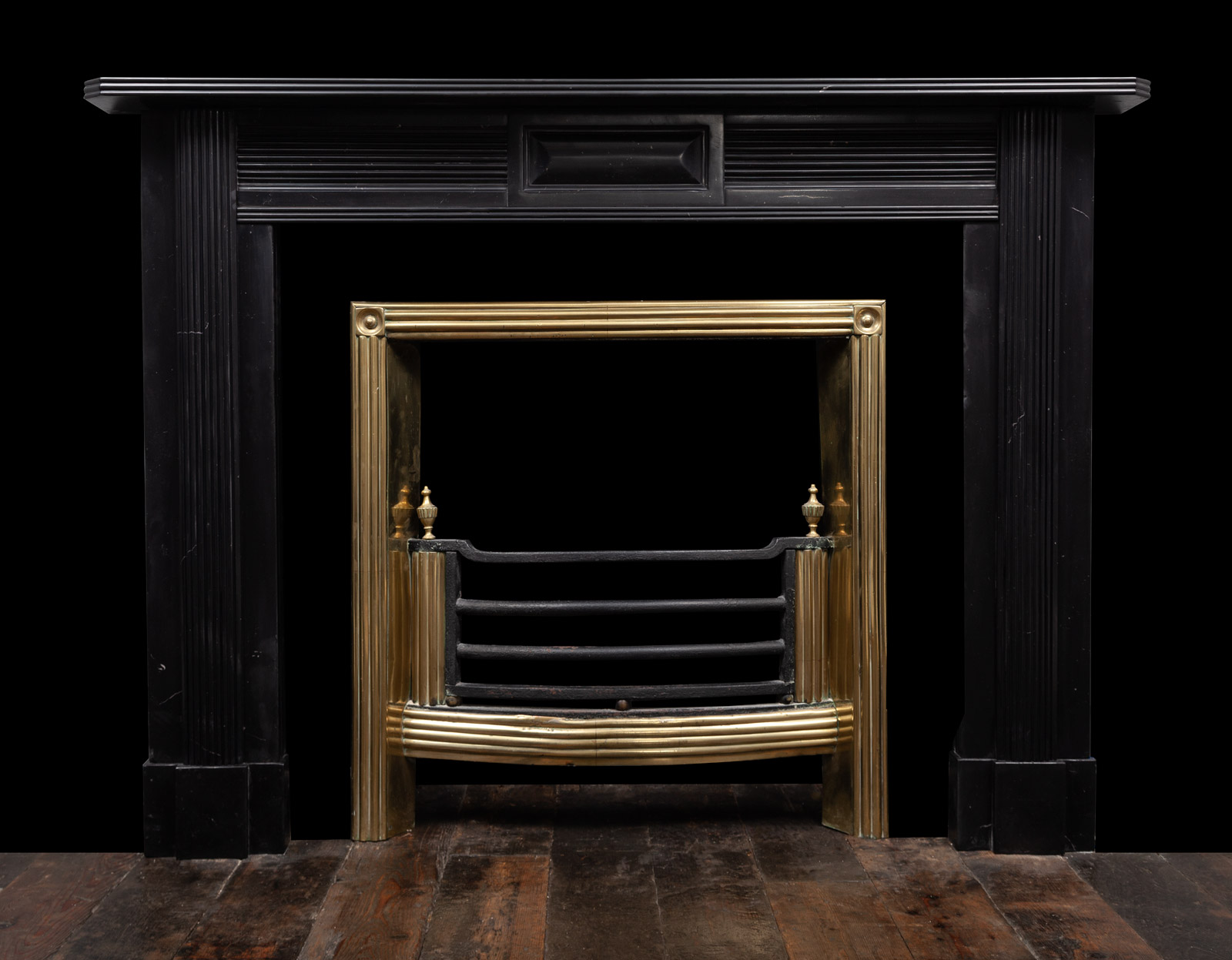 Black Marble Fireplace – 19402
