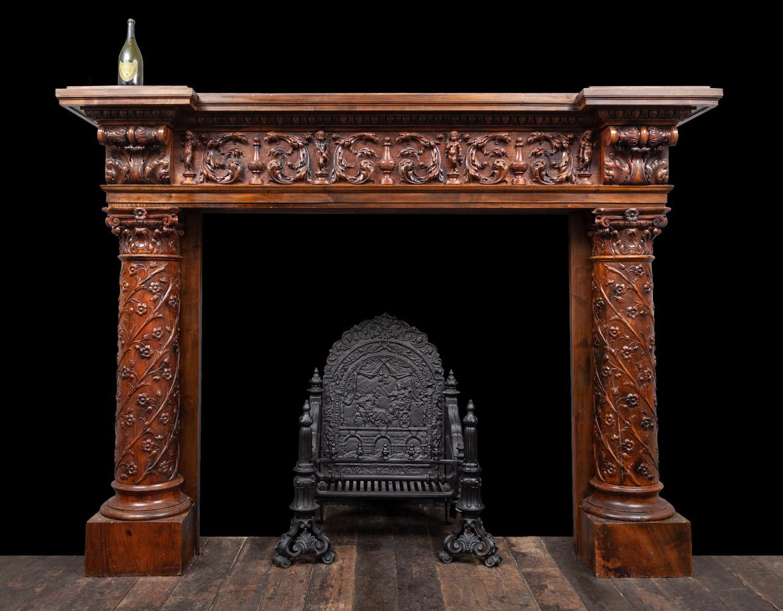 Wooded Mantel – W142