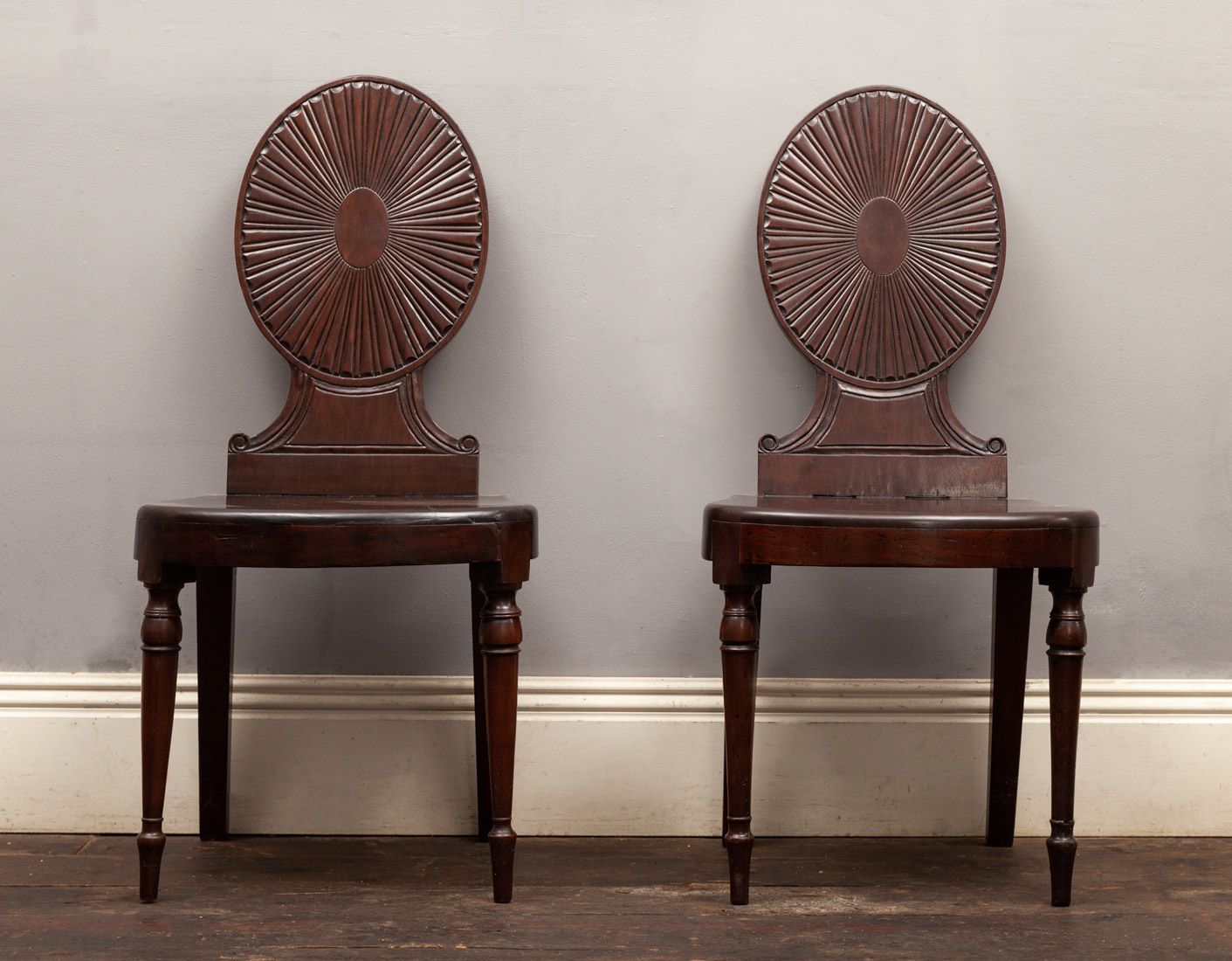Pair of hall chairs – AF138