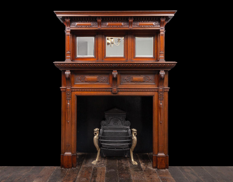 Wooden Fireplace – W148